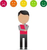 После обслуживания клиент имеет возможность оценить качество работы оператора.