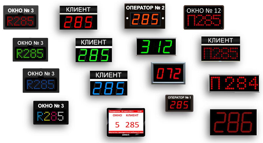 Возможные варианты оформления табло операторов