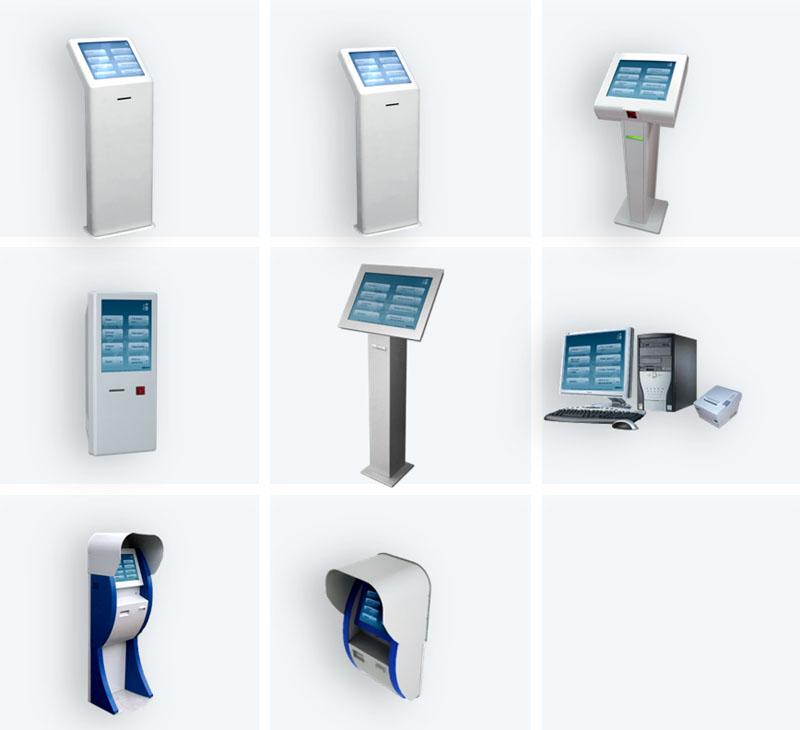 Возможные варианты оформления терминалов регистрации клиентов